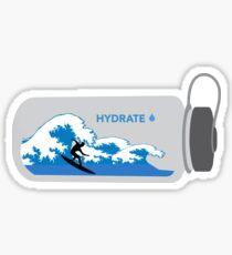 Surfer Water Bottle  Sticker