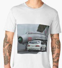 Subaru WRX Sti and Mig 21 bis Men's Premium T-Shirt