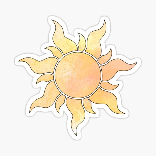 Tangled Sun Sticker