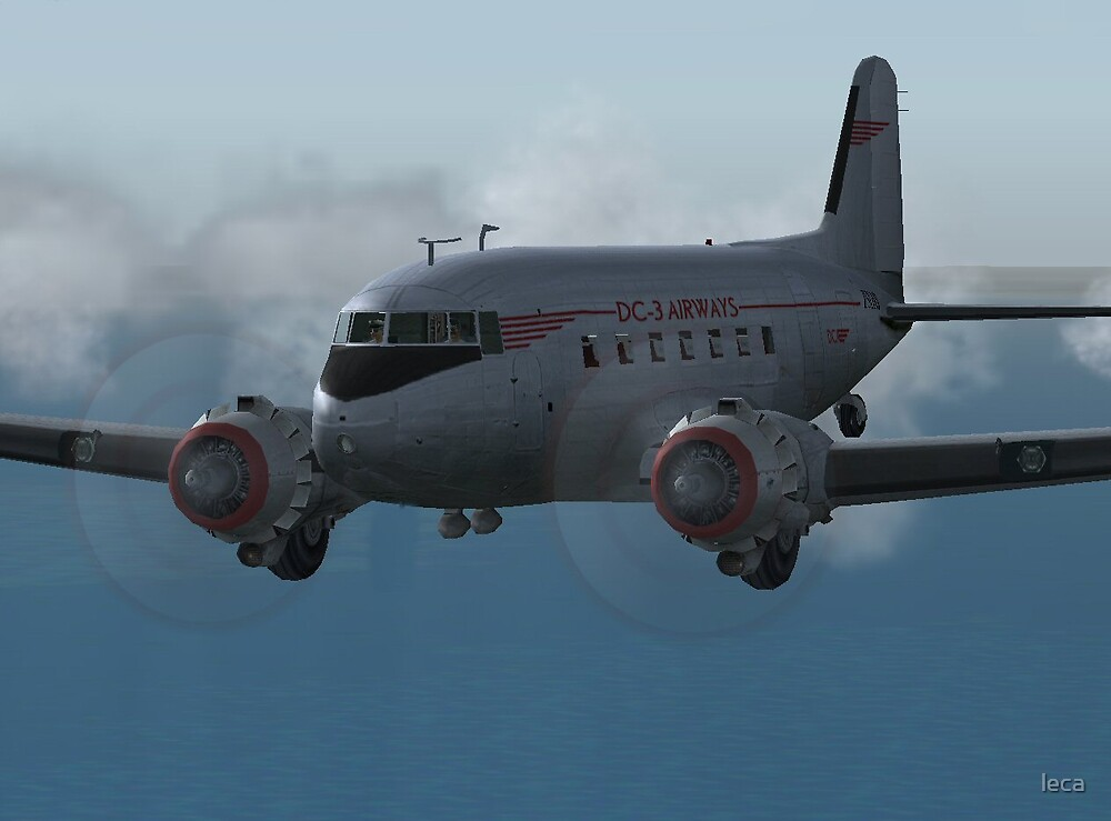 DC3 Engines hard at work by leca