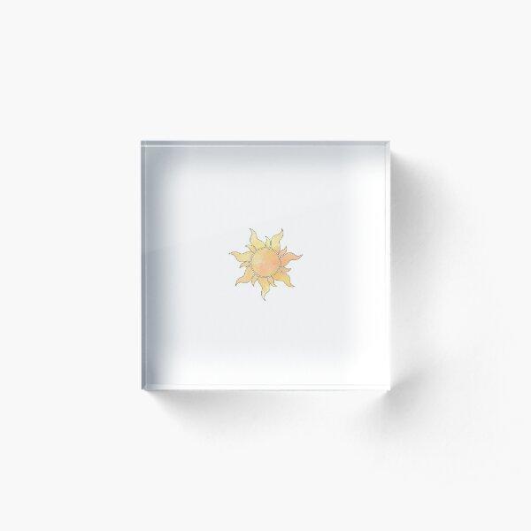 Tangled Sun Acrylic Block