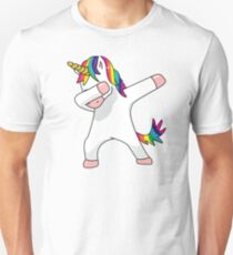 Unicorn Dab Shirt Dabbing Funny Magic Hip Hop T-Shirt For Men, Women, and Kids Unisex T-Shirt