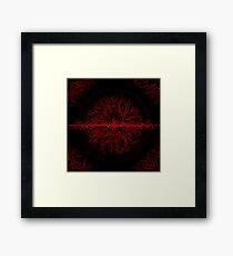 Generated Heat Framed Print