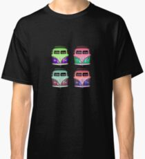 Pop Kombi VW on Black T-shirt Classic T-Shirt