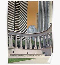 Vintage - Millenium Park Chicago, IL  Poster