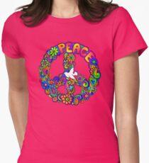 Flower Power Retro Hippie Peace Symbol T-Shirt
