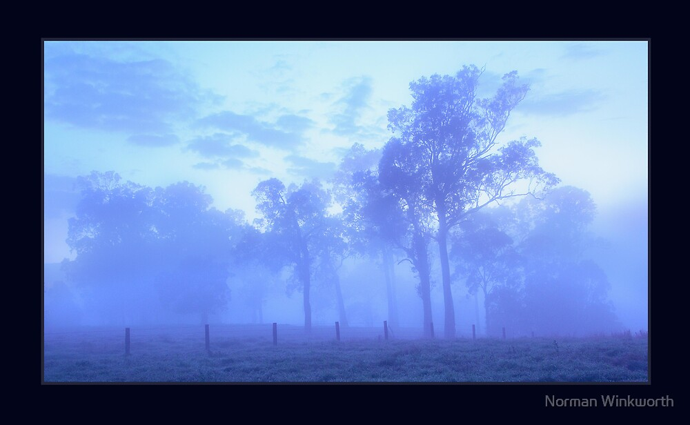 Fog at Lawrence. by Norman Winkworth