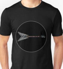 Tiled Pixel Silver King Flying V Guitar T-Shirt