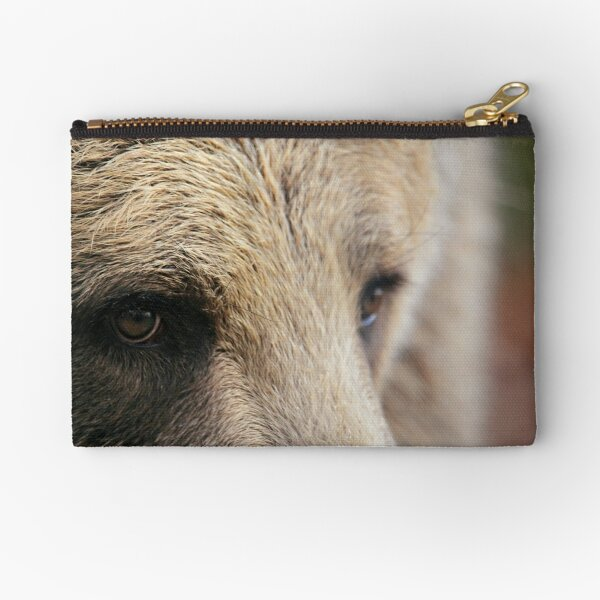 Brown Bear Eye Zipper Pouch