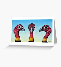 Bush Turkeys Greeting Card