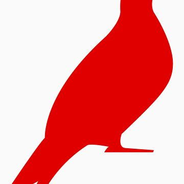 One Day Film Pigeon Logo (red) by OneDayFilm