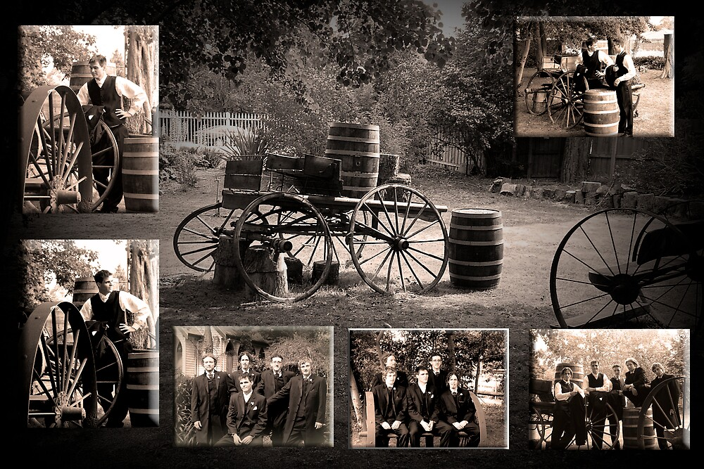 Nat & Luke Wedding Day Sepia by tess1731