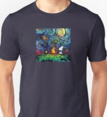 Doggy picnic under the Starry night  T-Shirt