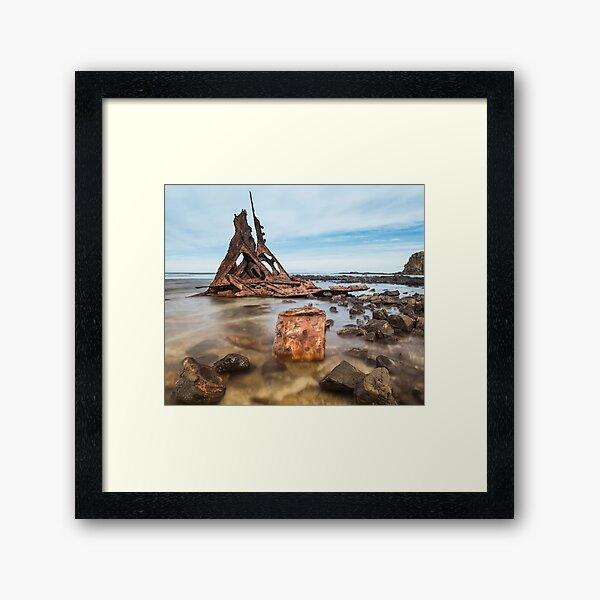 Shipwreck of the S.S. Speke Framed Art Print