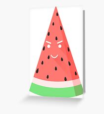 Sly watermelon Greeting Card
