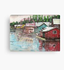 The old man from shantytown Canvas Print