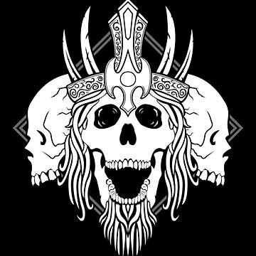 King of the Dead (inverted) by RedTideCreative