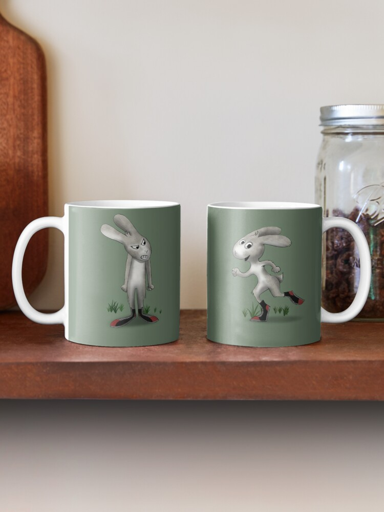 Alternate view of Two Moods of Rabbit Mug