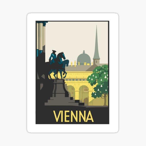 Vienna, Austria, vintage travel poster Sticker