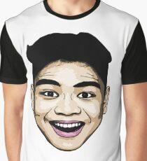 LeoVeo Cartoon  (Face Only) - Light Brown Graphic T-Shirt