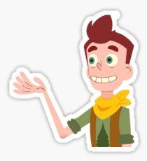 he grin Sticker
