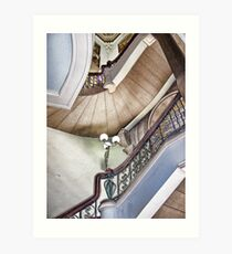 Twisted Stairs Lusicart Art Print
