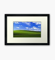 windows XP bliss Framed Print