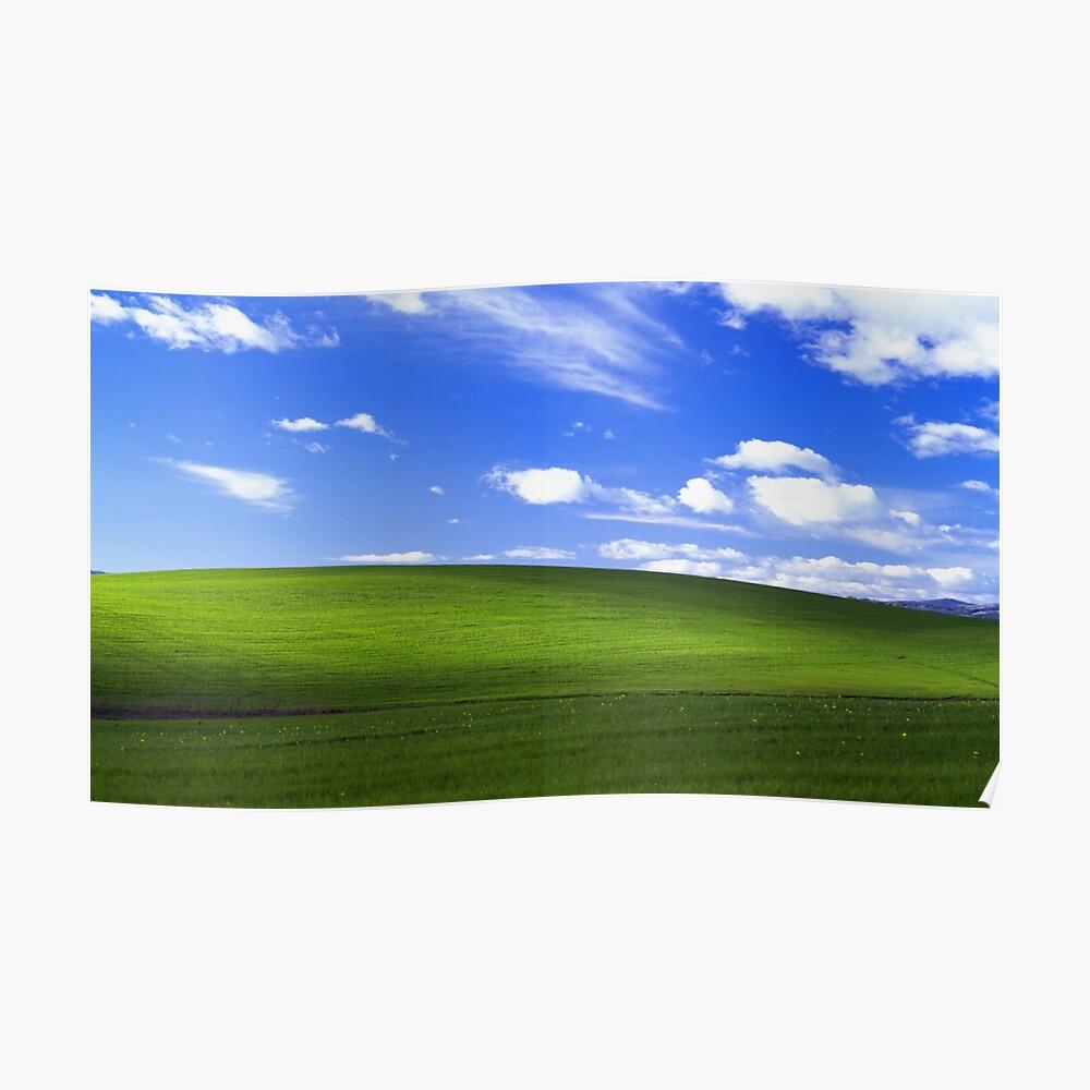 Windows XP Glückseligkeit Poster