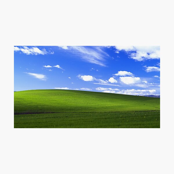 windows XP bliss wallpaper Photographic Print