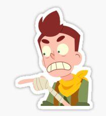 anger David Sticker