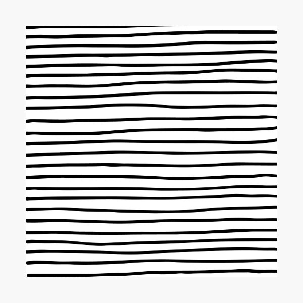 Modern simple trendy black white striped pattern Photographic Print
