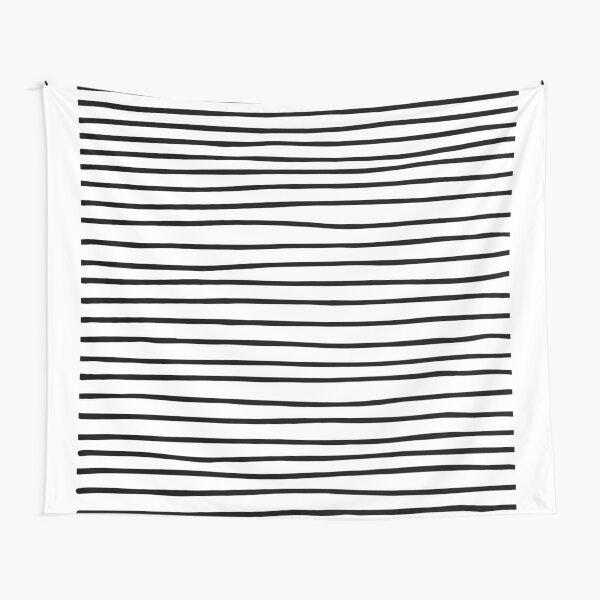 Modern simple trendy black white striped pattern Tapestry