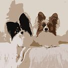 Papillon Dog Abstract by Oldetimemercan