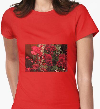 Scarlet Sensation - Winter Flowers and Berries T-Shirt
