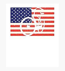 American Flag Bicycle Photographic Print
