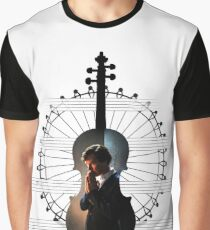 Sherlock violin pentagram Graphic T-Shirt