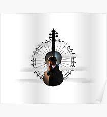 Sherlock violin pentagram Poster