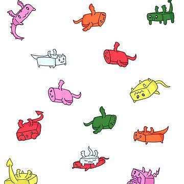 Bubblegum Dragons - Chiclets by AutumnWyvern