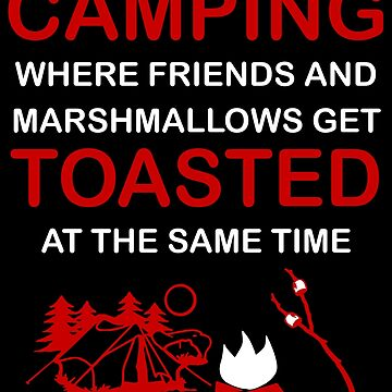 CAMPING WHERE FRIENDS AND MARSHMALLOWS GET TOASTED AT THE SAME TIME by antipatic