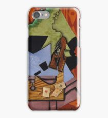 Violin and Playing Cards on a Table 1913 Juan Gris iPhone Case/Skin
