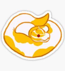 Albino Pied Ball Python Sticker Sticker