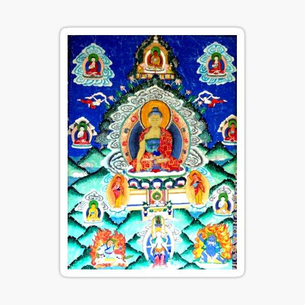 Powerful Healing Tibetan Thankga Sticker