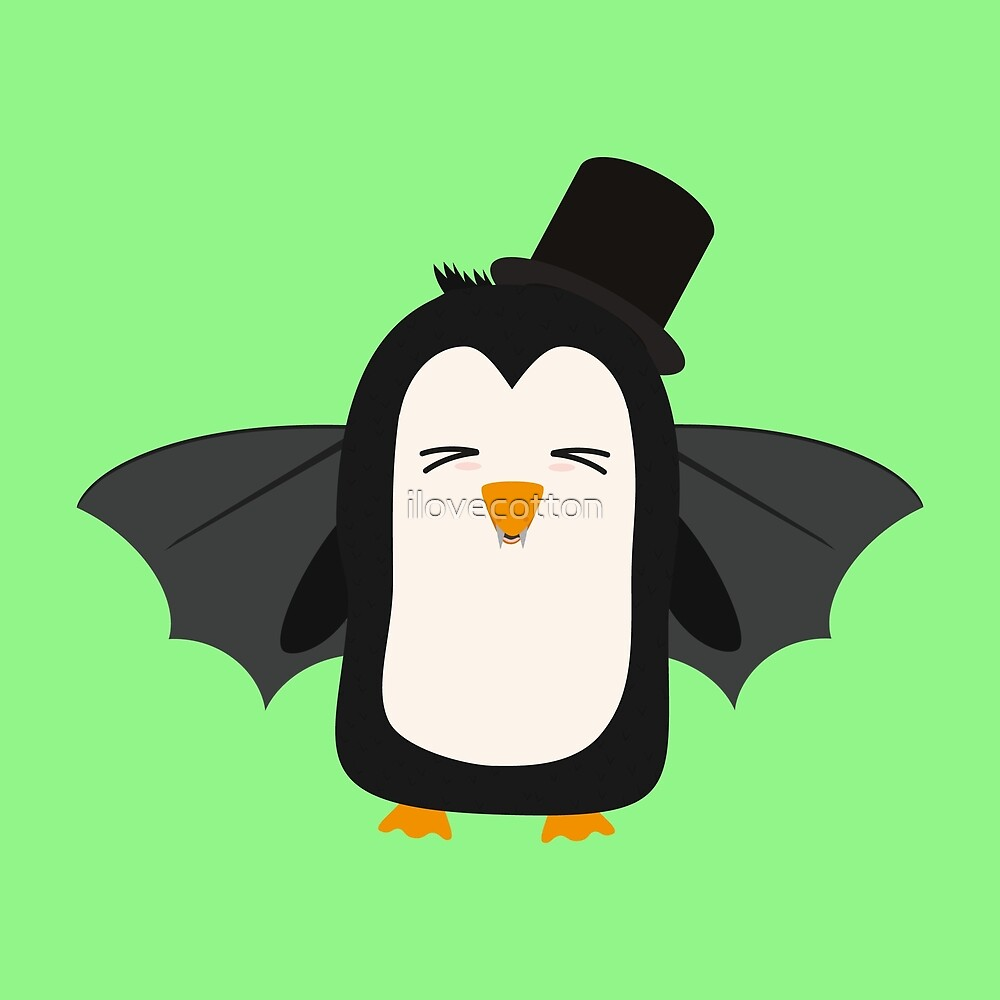 Penguin Vampire with Hat Rszqb by ilovecotton