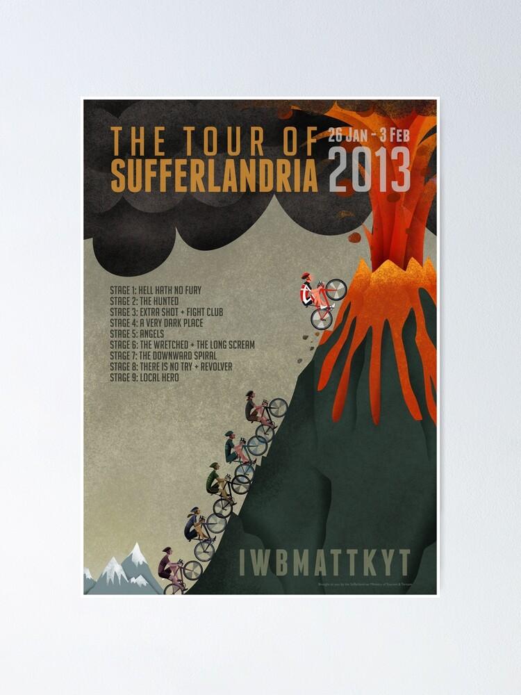 Alternate view of Tour of Sufferlandria 2013 Poster