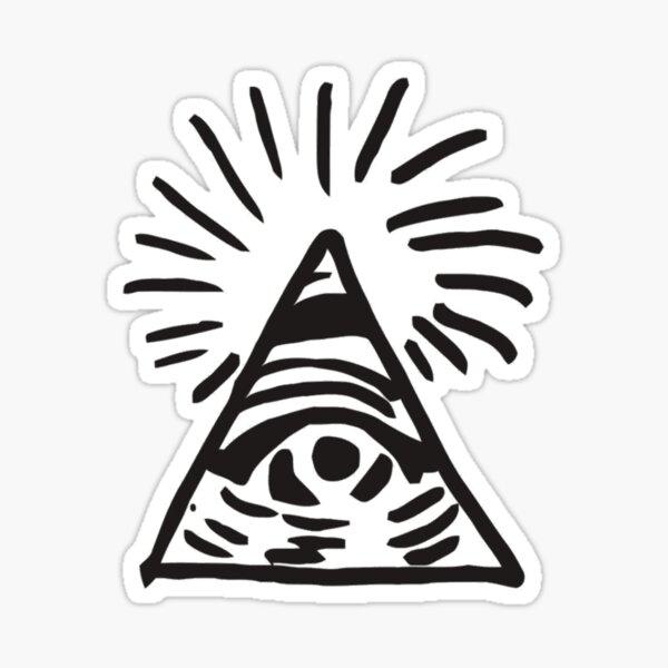 Letrero Illuminati - Antes de la tormenta - La vida es extraña Pegatina