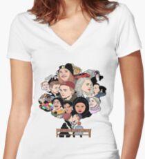 Skam Art Women's Fitted V-Neck T-Shirt