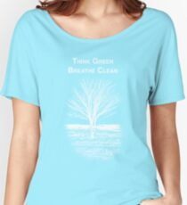 Tree Shirt (White Text/Image) Women's Relaxed Fit T-Shirt