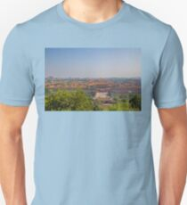 China. Beijing. Jingshan Park. View at the Forbidden City. T-Shirt