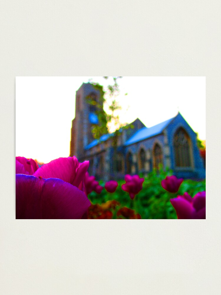 Alternate view of Flowers Outside St Giles II Photographic Print