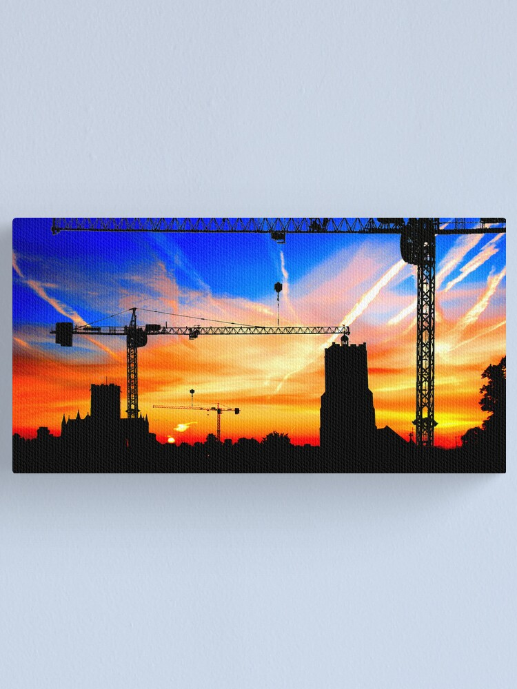 Alternate view of Building Buildings Canvas Print